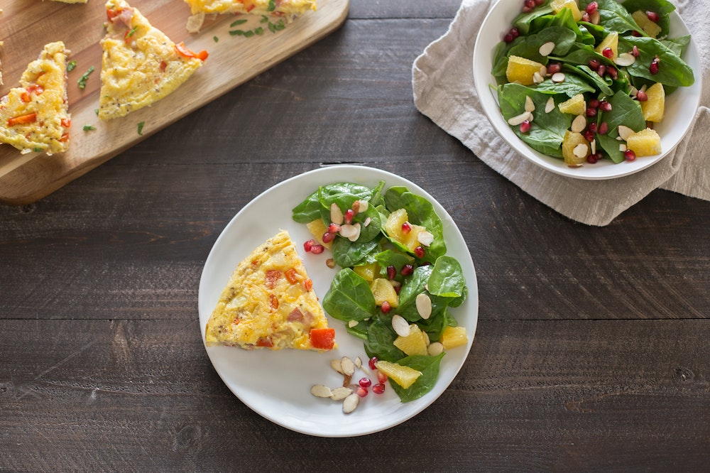 Ham and Bell Pepper Frittata