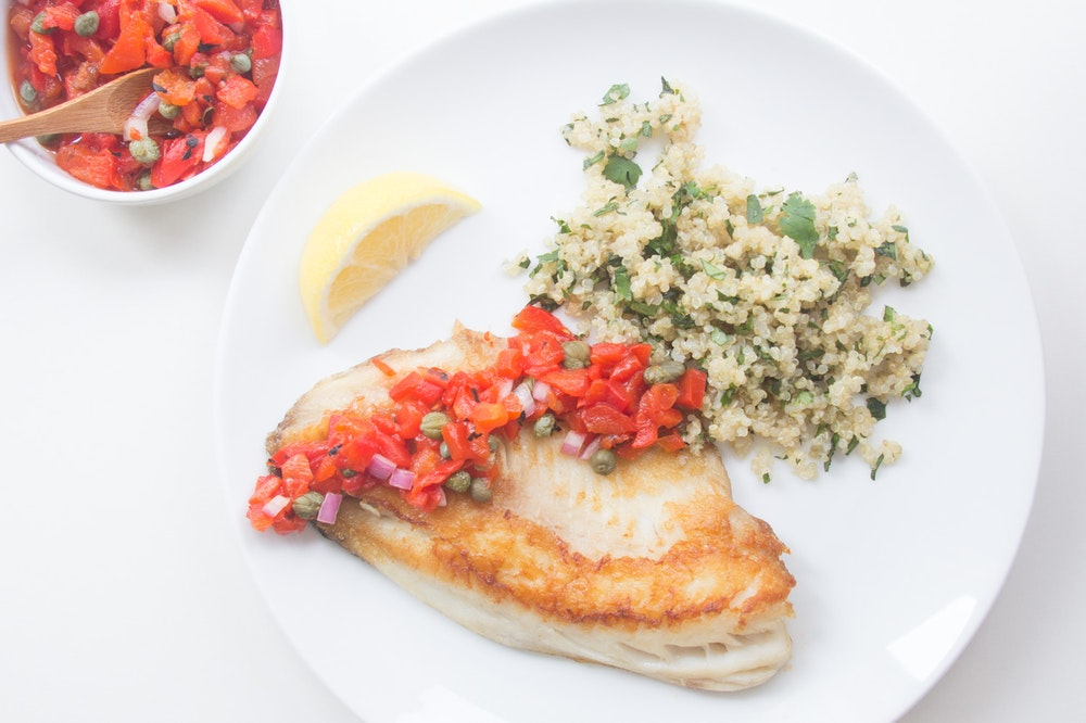 Pan-Seared Tilapia with Roasted Red Pepper Salsa