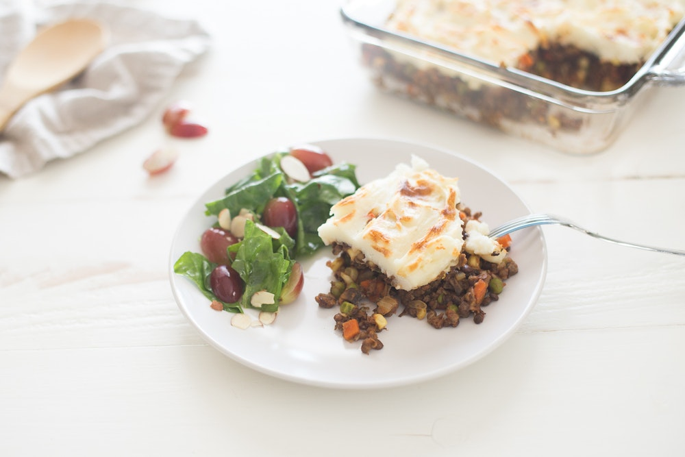 Vegetarian Shepherd's Pie with Lentils and Mushrooms