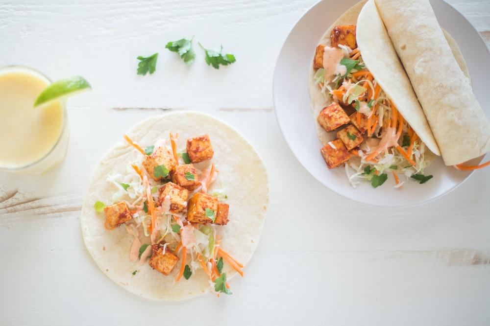 Banh Mi Tofu Tacos