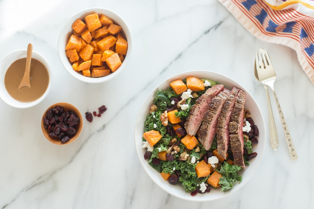 Steak and Kale Salad