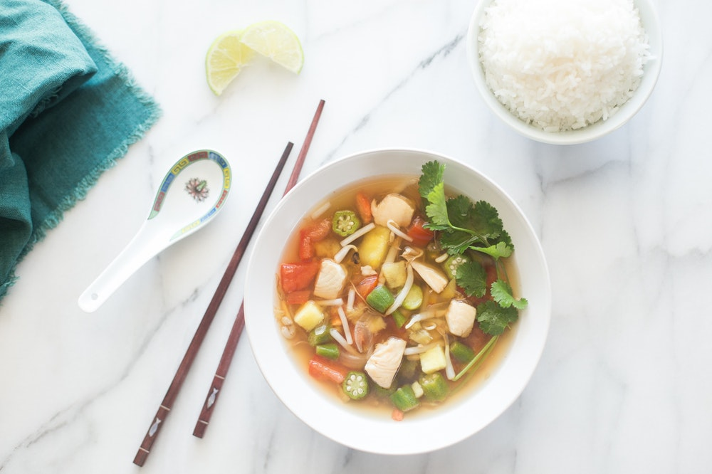 "Sweet and Sour Vietnamese Fish Soup ""Canh Chua"""