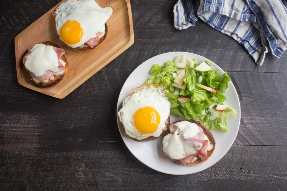 Croque Madame on English Muffins