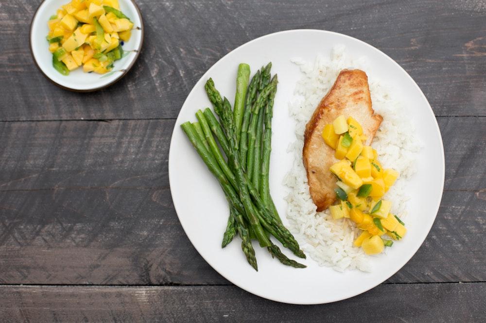 Chicken with Mango Salsa