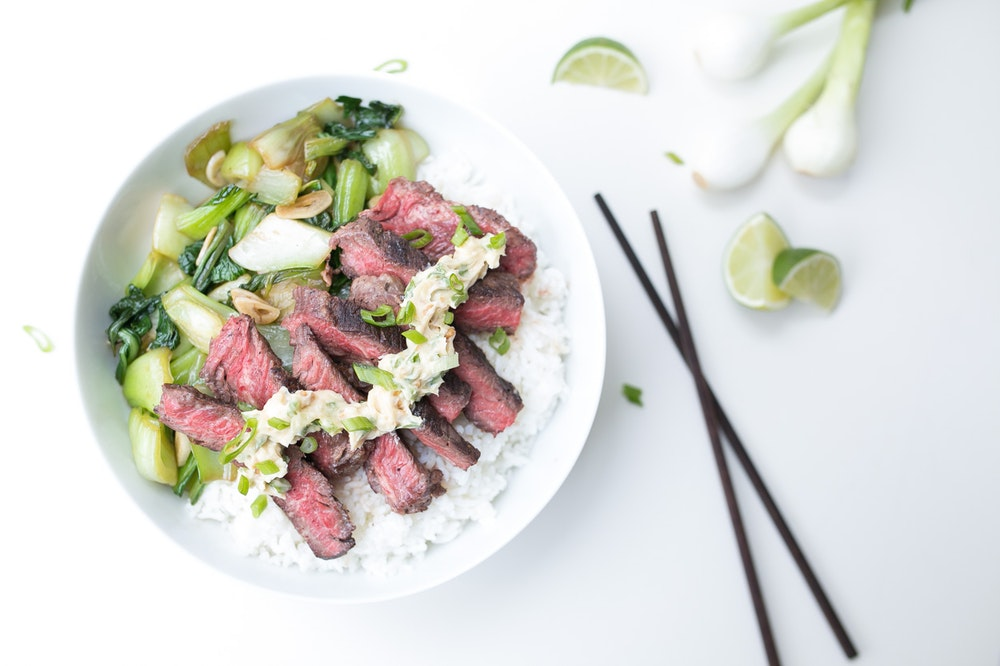 Steak with Miso-Lime Butter