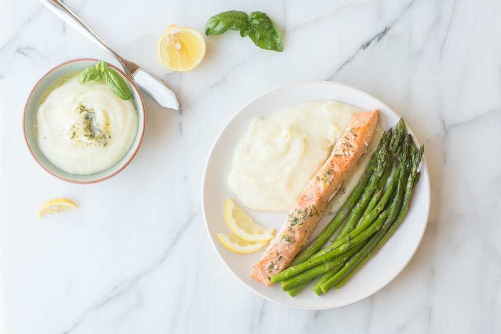 Salmon with Herb Butter