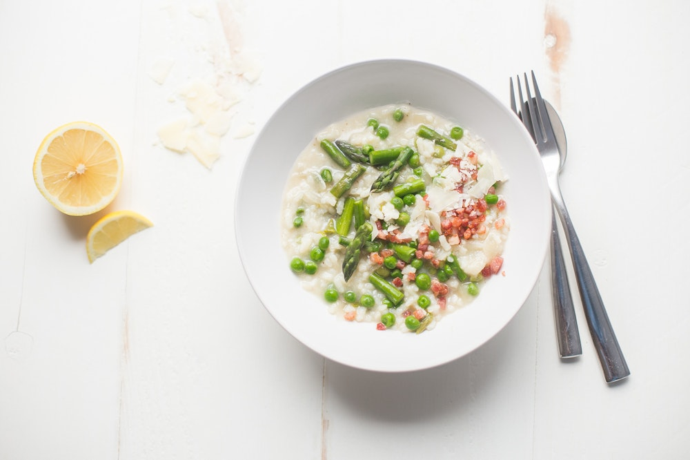 Oven-Baked Asparagus and Parmesan Risotto
