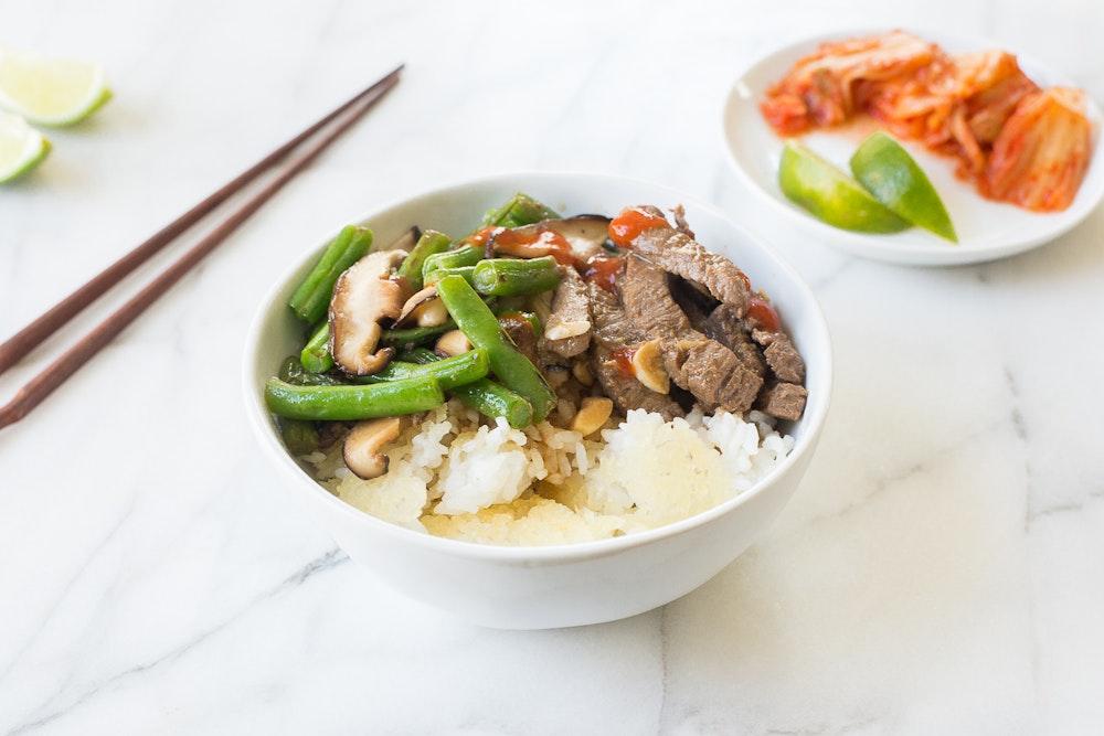 Korean Lentil and Rice Bowls