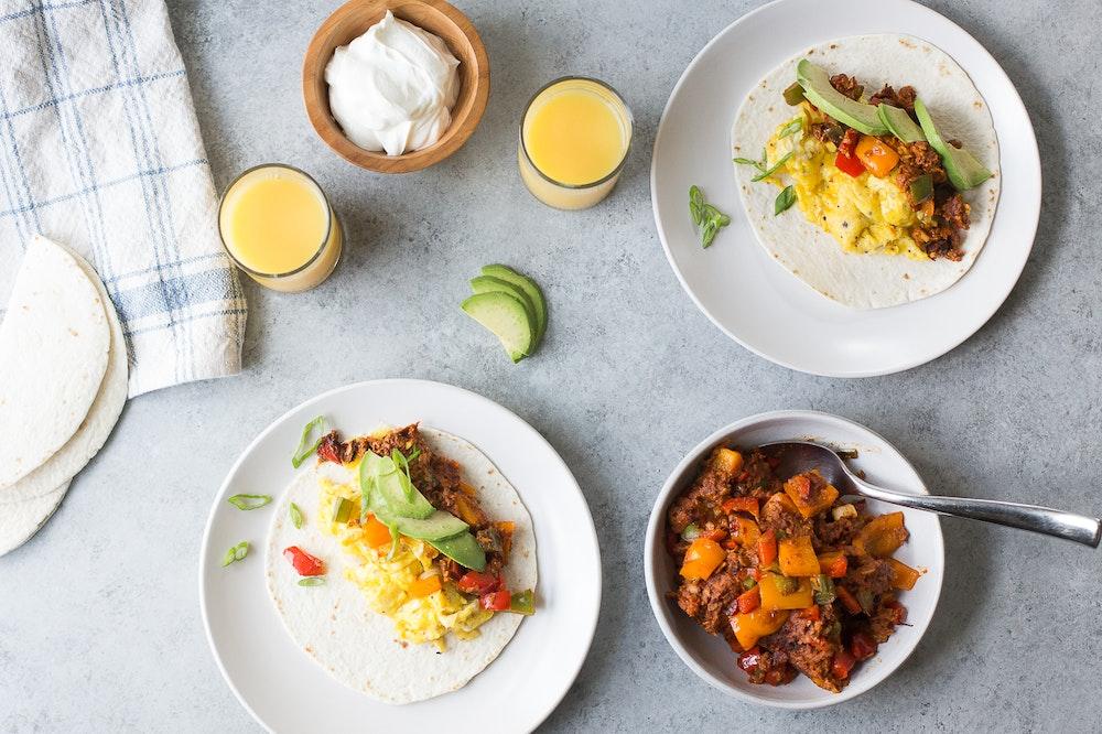Soyrizo Breakfast Tacos