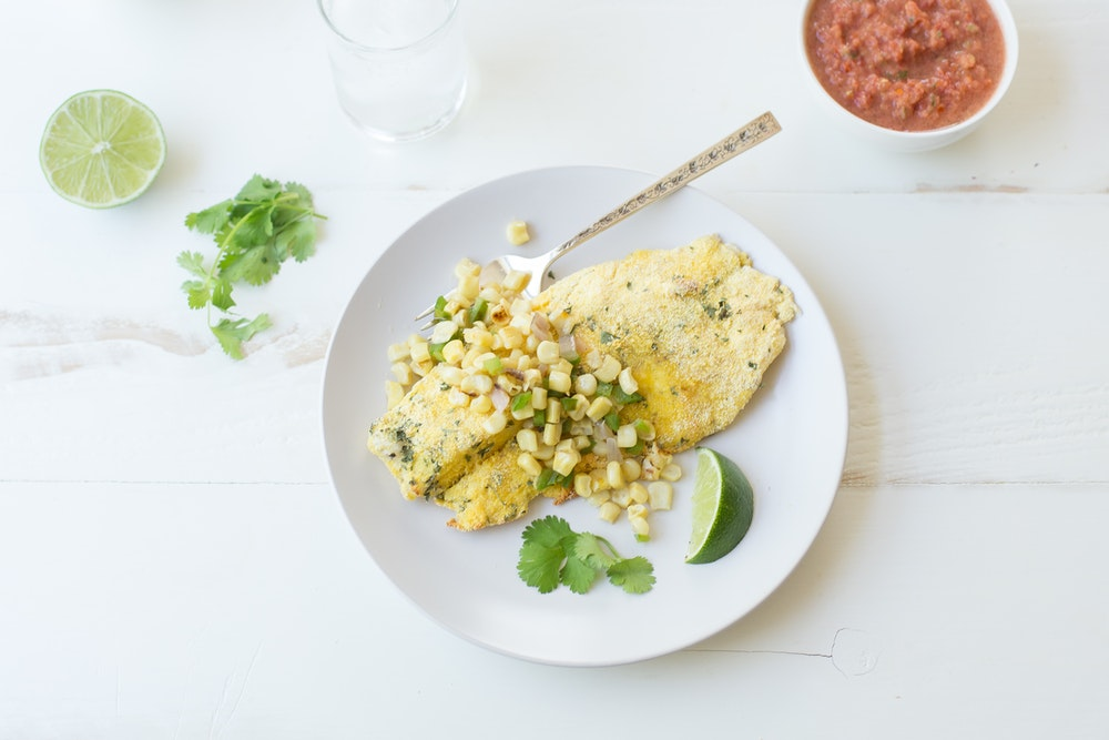 Cornmeal Crusted Flounder