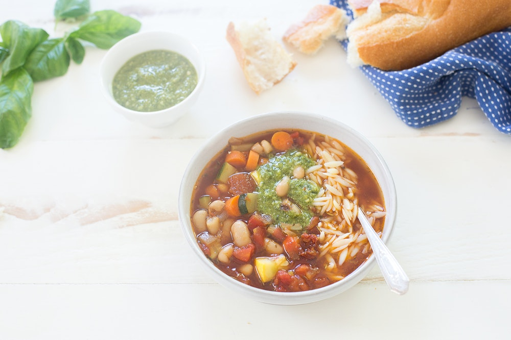 Summer Orzo Soup