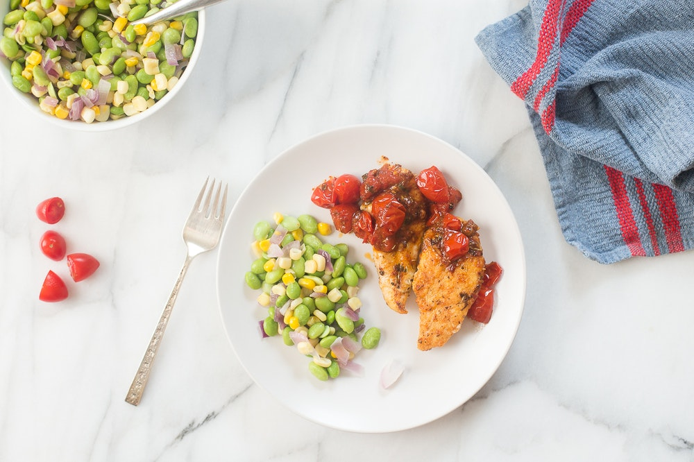 Chicken Tenders with Tomato-Herb Pan Sauce