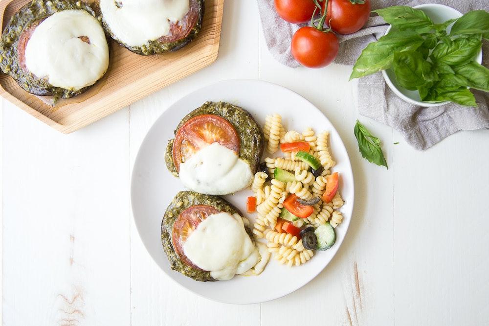 Portobello Pesto Pizzas