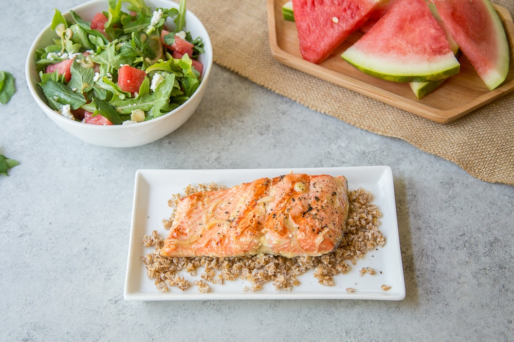 Grilled Salmon with Orange Vinaigrette