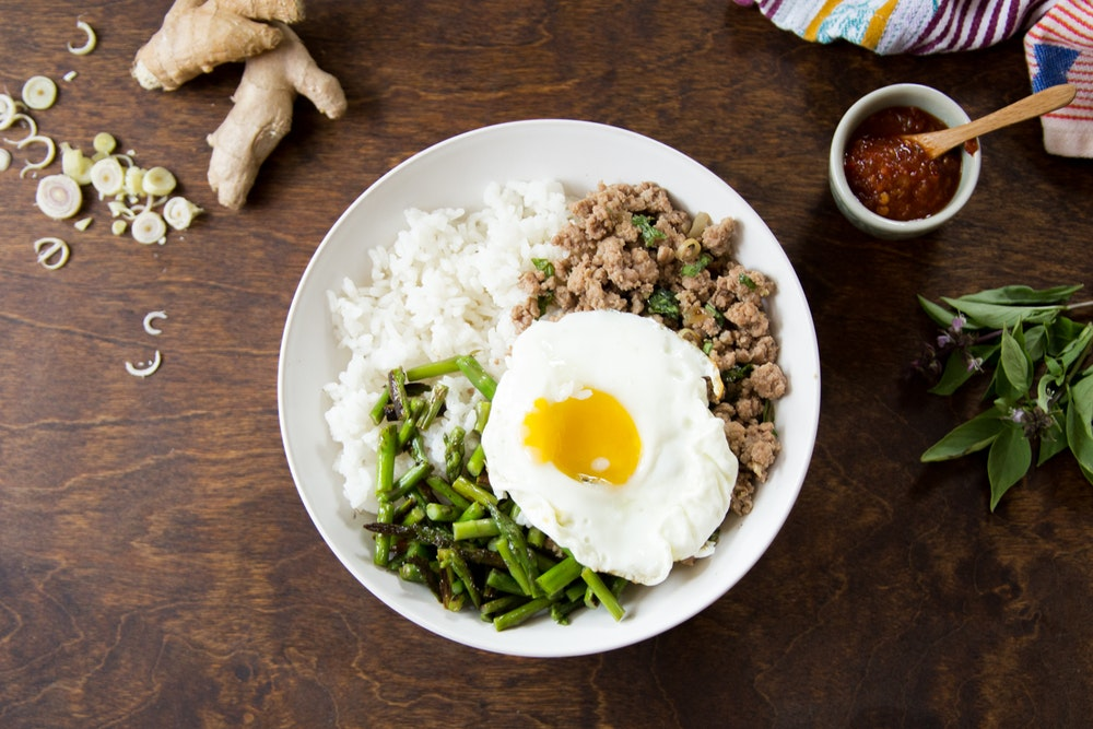 Thai Stir-Fried Pork and Asparagus