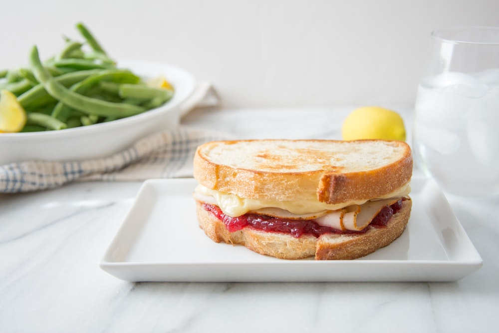 Turkey, Brie and Cranberry Melts