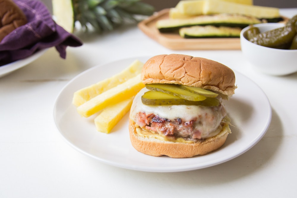 Grilled Cubano Burgers