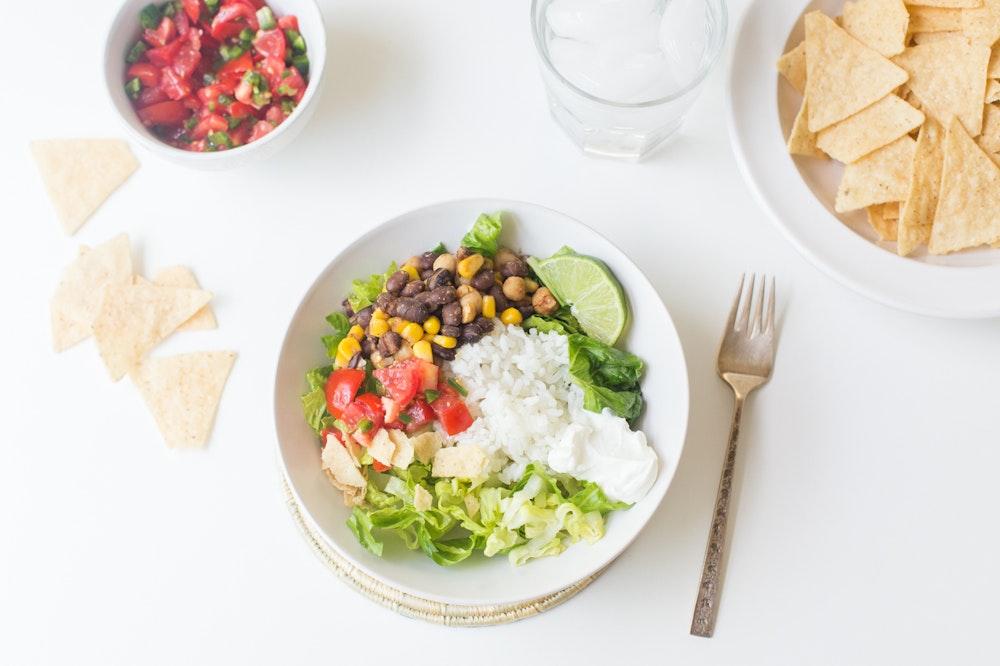 Southwestern Spiced Chickpea Burrito Bowls