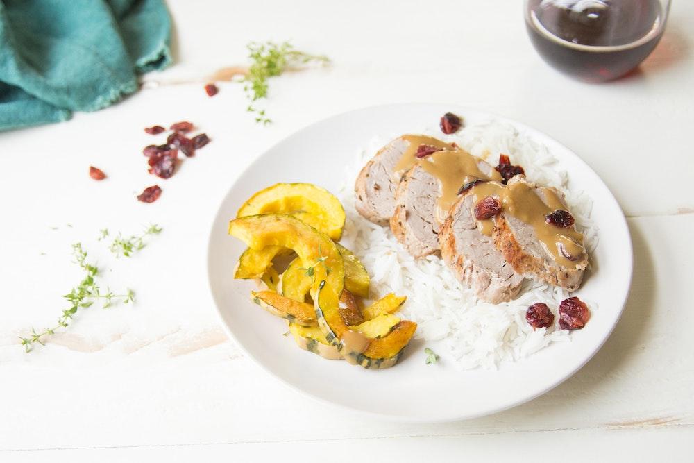 Pork Tenderloin with Cranberry Pan Sauce