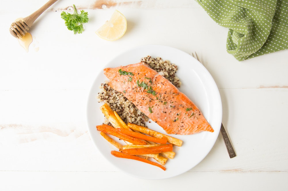 Roasted Salmon with Lemon Herb Glaze