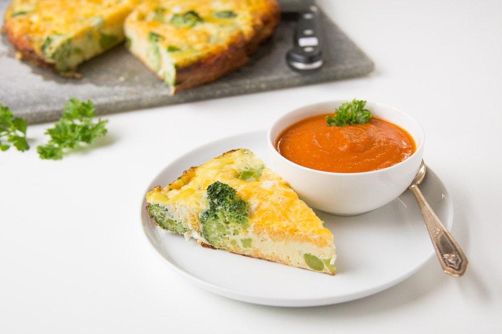 Broccoli and Cheddar Frittata